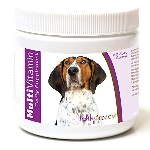 (Healthy Breeds Dog Multivitamin Soft Chew Treats for Treeing Walker Coonhound - Over 200 Breeds - for Small Medium & Large Breeds - Easier Than Liquid or Powders - 60 Chews)