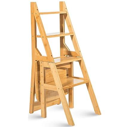 Wcs Sgabello Ladder Multifunzione Casa In Legno Massello Ikea Sedia