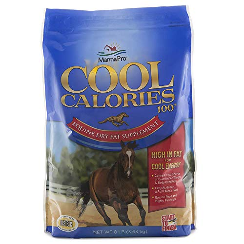 Manna Pro Cool Calories 100 Fat Supplement for Horses 8lb Pack of 1