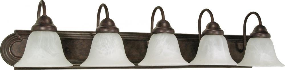 Nuvo Gothamシャンデリア 5-Light 60/327 1 B0015MZHI2 Old Bronze / Alabaster Glass|5ライト バニティー Old Bronze / Alabaster Glass