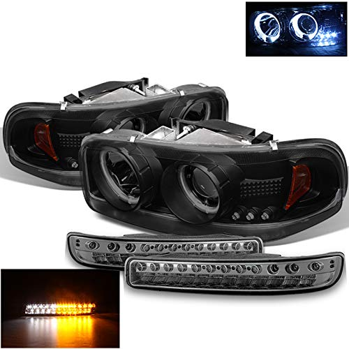 04 gmc sierra halo headlights - 7