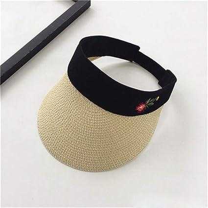 151195d0 Amazon.com: CapsA Summer Foldable Straw Sun Visor for Women Large Brim Summer  UV Protection Beach Cap Sports Tennis Golf Cap Headband Hat: Sports &  Outdoors