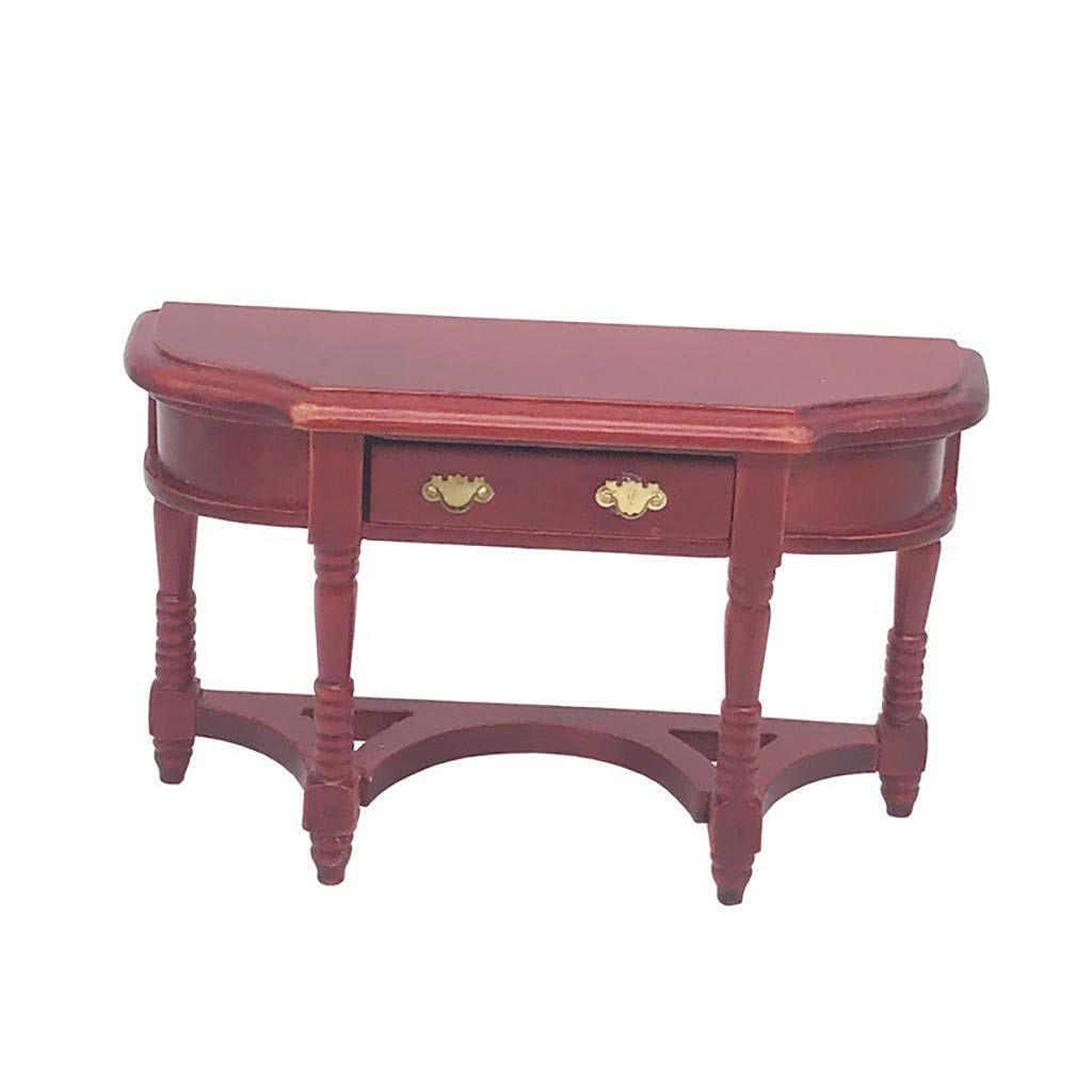 Dollhouse Miniature Cherry Finished Working Table