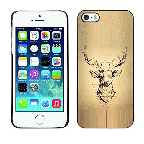 All Phone Most Case / Hard PC Metal piece Shell Slim Cover Protective Case Housse Coque Étui de protection pour Apple Iphone 5 / 5S deer parchment wood deer antlers