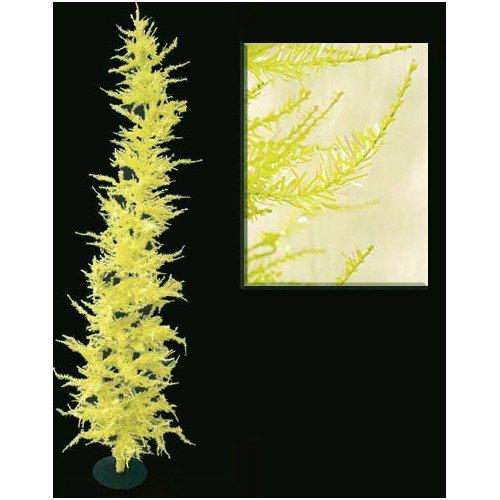 OKSLO Vickerman Whimsical 6' Yellow Laser Artificial Christmas Tree