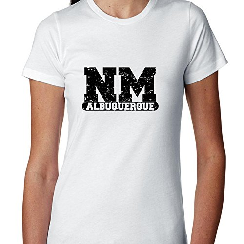 (Albuquerque, New Mexico NM Classic City State Sign Women's Cotton T-Shirt)