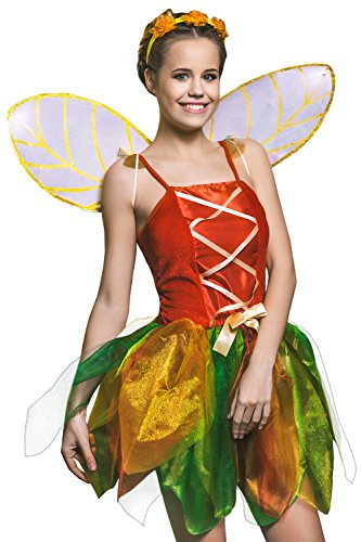 Adult Women Forest Fairy Halloween Costume Pixie Thumbelina Dress Up & Role Play (Small/Medium) (Tinkerbell Costume For Adults)