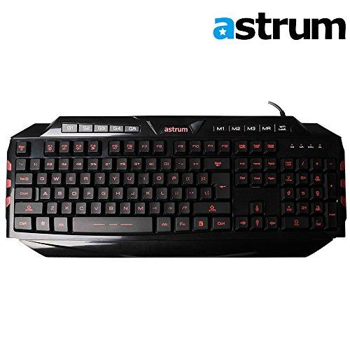 Astrum Elete Stealth LED Backlit USB Multimedia Gaming Keybo