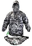 Xpocket Lightweight Breathable Packable Rain/Windbreaker Jacket featuring (Small, Camouflage)