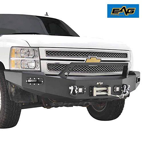 - EAG 07-13 Chevy Silverado 1500/GMC Sierra 1500 LED Front Winch Bumper