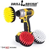 Drill Powered Cleaning Rotary Electric Brush Kit for Tile and Grout, Tub, Shower, Sink, Porcelain