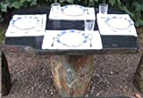 Stone Age Creations TA-BO-1 Flintstone Natural Granite Boulders Stone Table