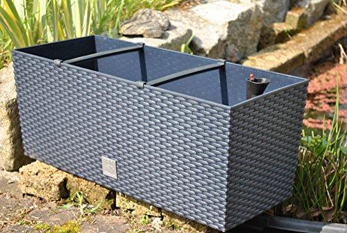 Pflanzkasten mit Bewässerungssystem,anthrazit,60cm ,Kunststoff