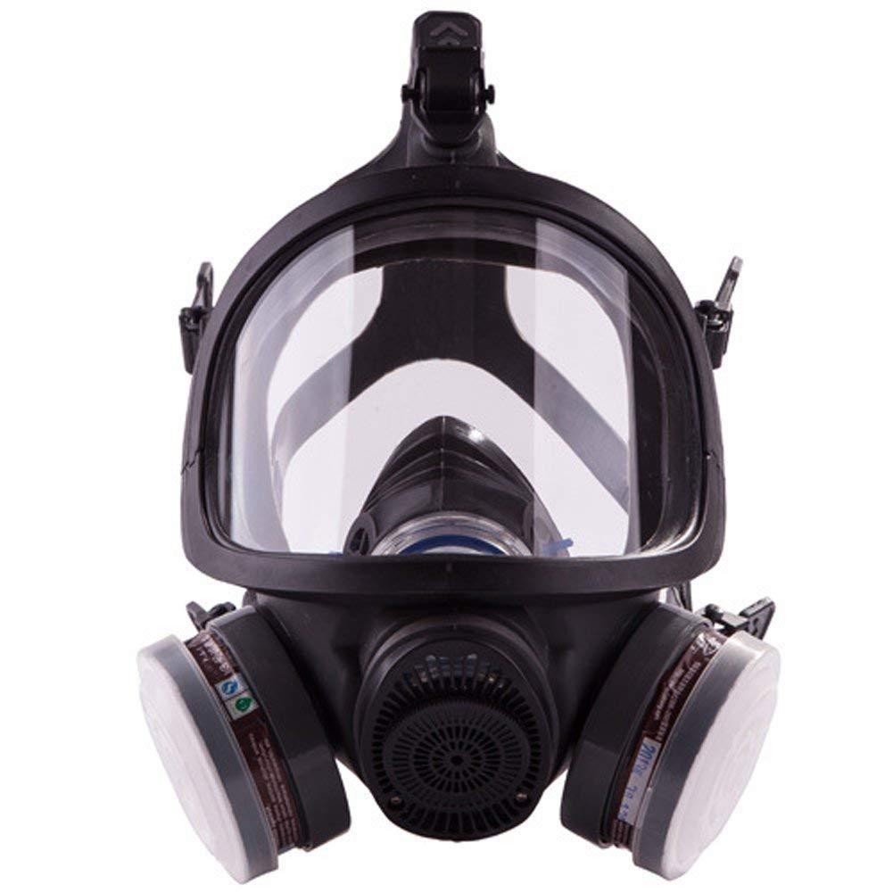 ACLBB Máscara De Gas De Cara Completa, Respirador De Vapor Orgánico Profesional para Pintura, Polvo, Productos Químicos, Protección De Pesticidas