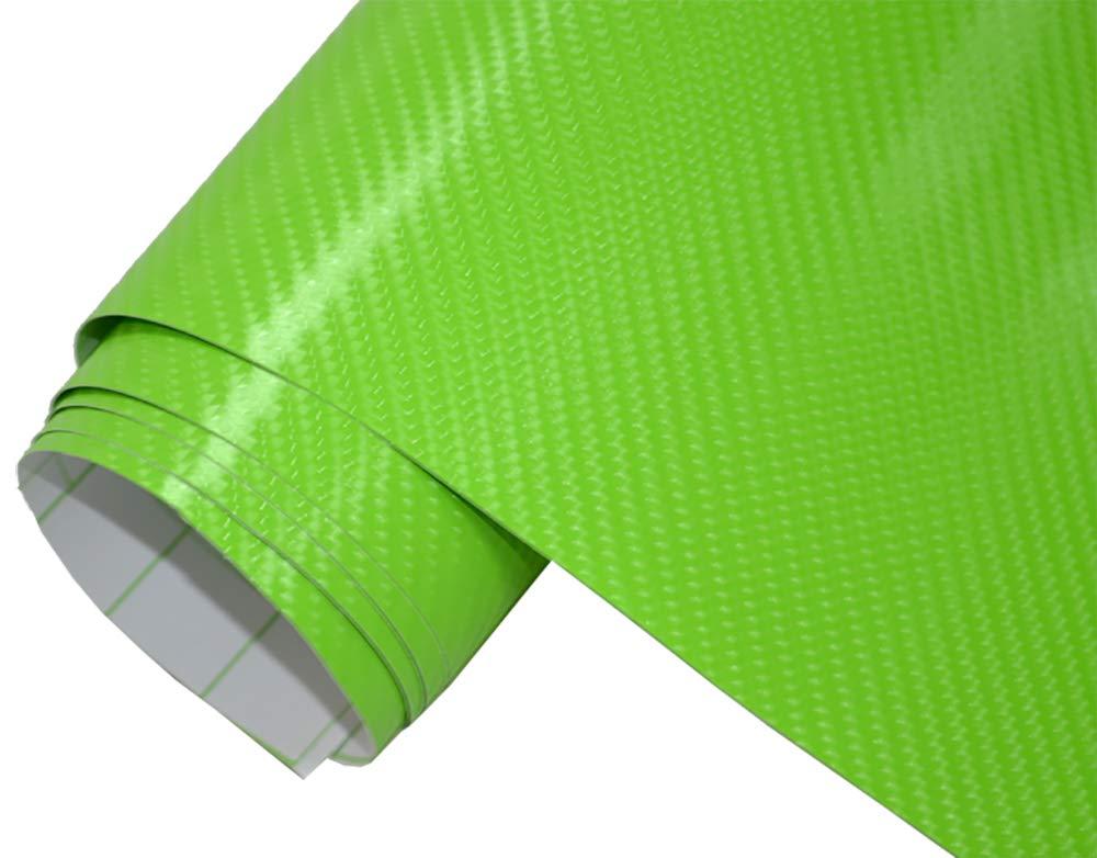 5/€//m/² Auto Folie selbstklebend BLASENFREI flexibel Car Wrapping Klebefolie folieren 4D Carbon gr/ün 300 x 150 cm