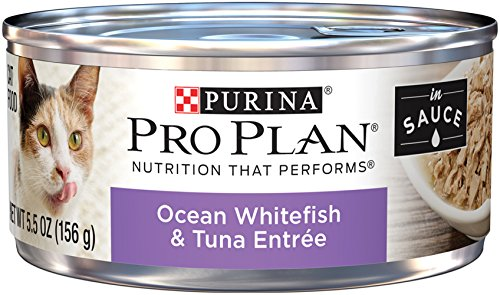 Purina Pro Plan Ocean Whitefish & Tuna Entree In Sauce Adult Wet Cat Food - (24) 5.5 Oz. Cans