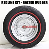 Red Line Tire ADD-ON Accessory - (ALL 4 Tires) D.I.Y. Redline Tire Stripe Kit - CUSTOM SIZING