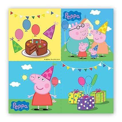 20 Las toallas de papel Peppa Pig 33 x 33 cm - Tamaño