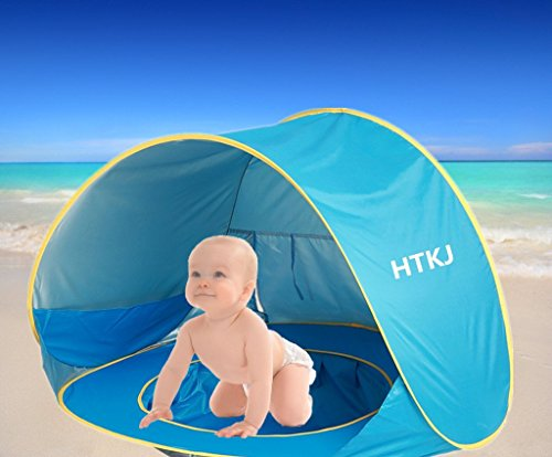 HTKJ Foldable Dog Beach Tent Portable Dog Pet Pop Up Fun Pool with Sun shelter for KidsCollapsible Dog Pet Pool Bathing Tub for Dogs or Cats  sc 1 st  Beach Needs & HTKJ Foldable Dog Beach Tent Portable Dog Pet Pop Up Fun Pool ...