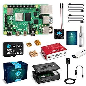 LABISTS Raspberry Pi 4 4GB キット(技適マーク入)MicroSDHCカード32G/Raspbianシステムプリインストール