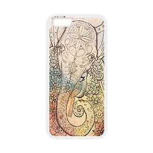 Case Cover For Apple Iphone 5C Elephant flower Phone Back Case Customized Art Print Design Hard Shell Protection FG052770