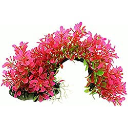 TOOGOO(R) Arch Shaped Aquarium Decor Aquatic Plants/Grass, Pink