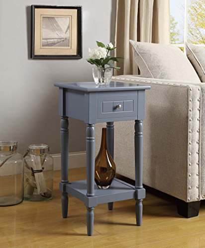 Convenience Concepts French Country Khloe Accent Table, Gray - Entry Accent Table