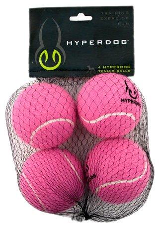 Hyper Pet Mini Tennis Balls for Dogs, 4-Pack, Pink, My Pet Supplies