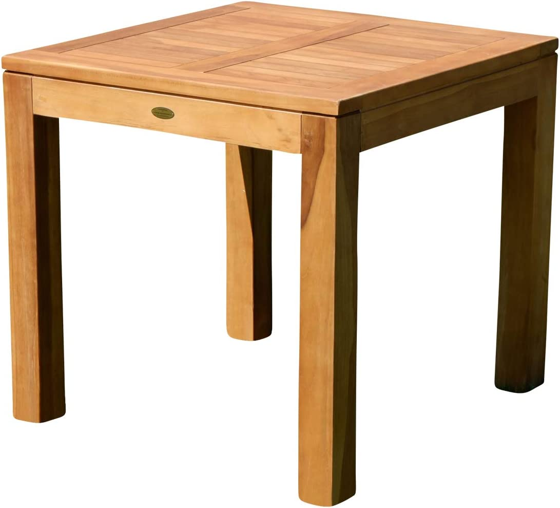 wuchtiger teca Bigfoot Jardín Mesa 80 x 80 mesa de madera teca mesa Jardín Mesa Madera de as de S: Amazon.es: Jardín