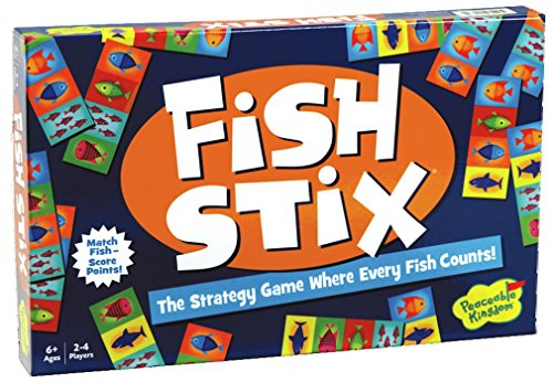 Peaceable Kingdom Award Winning Fish Stix - The Kids' Game Where Every Fish Counts (Fish For Kids)
