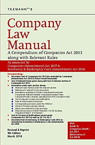 buy company law manual a compendium of companies act 2013 along rh amazon in taxmann's master guide to companies act Malaysia Companies Act