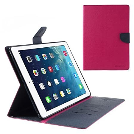 Sparkling Trends Mercury Goospery Fancy Diary Wallet Flip Cover Case for Apple Ipad 2/3/4 Pink