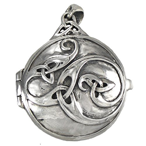 Sterling Silver Celtic Knotwork Swirl Locket by Dryad Design