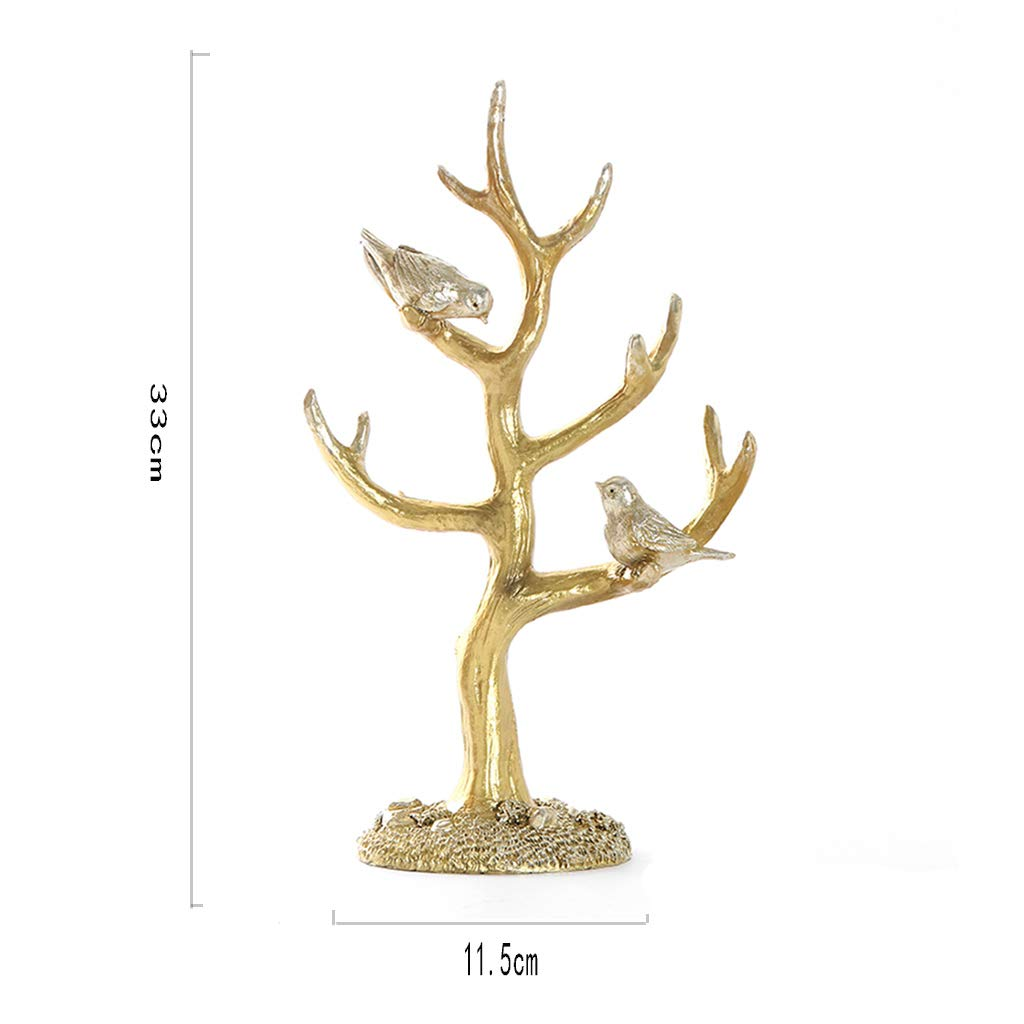 Jewelry Rack-Resin Bird Tree Jewelry Frame Retro Bracelets Bracelet Display Frame Key Ring Rack Gift Ornaments for Home 3311.519 (Color : B)