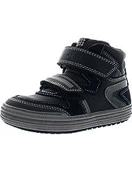 Geox Boys Jr Elvis Velcro High Top Casual Sneakers