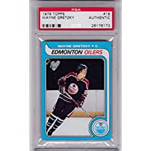 1979-80 Topps Wayne Gretzky OILERS ROOKIE RC #18 AUTHENTIC SLABBED ^ - PSA/DNA Certified - Hockey Slabbed Autographed Cards