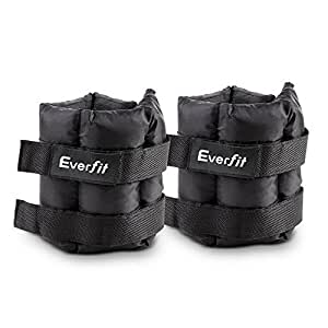 2x 5KG Ankle Wrist Weight Weights Adjustable 10KG Pair Strap Fitness Training Exercise Workout Home Gym Speed Strength Everfit