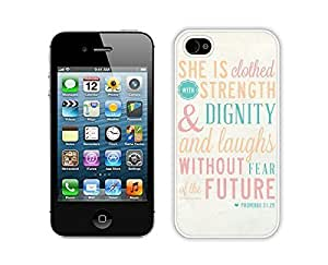 iphone 6 plus 5.5 Cases,iphone 6 plus 5.5 Case,Colorful Hbrid With Dot Case Cover Protector For iphone 6 plus 5.5 Bible Quote Proverbs 31 25 She is clothed in strength and dignity and she laughts without fear of the futur iphone 6 plus 5.5 Cases White Cover