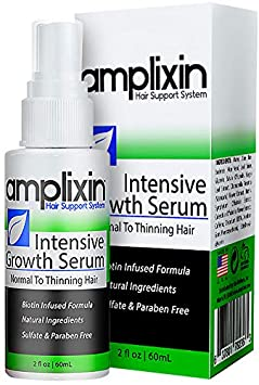 Amplixin Intensive Biotin Hair Growth Serum – Hair Loss Prevention Treatment For Men Women With Thinning Hair – Sulfate-Free Dht Blocker For Receding Hairline Pattern Baldness, 2Oz