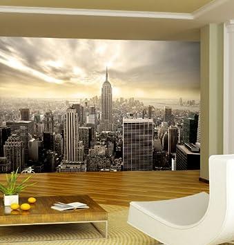 Fototapete New York Skyline 420 x 270 cm Wandgestaltung ...