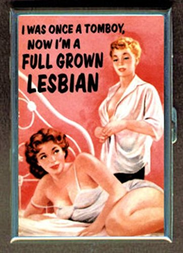 Tomboy Now Full Grown Lesbian ID Wallet or Cigarette Case USA - Cigarette Made
