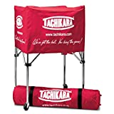 Tachikara Collapsible Ball Cart with Nylon Carry Bag, Scarlet
