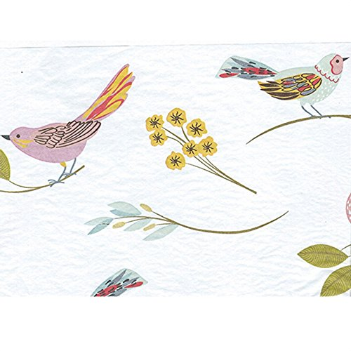 Tissue Paper for Gift Wrapping with Design (Elegant Bird Illustrations), 20 Large Sheets (20x30) by Rustic Pearl Collection