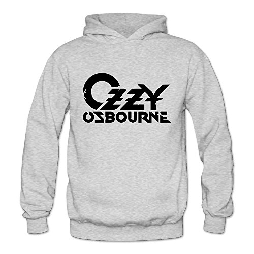 Price comparison product image TIKE Women's Ozzy Ozzy Osbourne Randy Rhoads Hoodie Sweatshirt Color Ash Size XXL