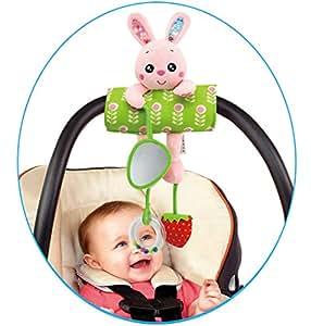 Amazon Com Daisy Baby Infant Plush Rabbit Animal Rattle