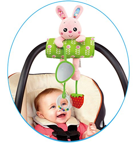 waatcher daisy baby infant plush rabbit animal rattle stroller activity bar crib mobile toy car. Black Bedroom Furniture Sets. Home Design Ideas