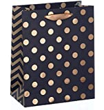 Gift Bag - Black With Gold Foil Spots - Large