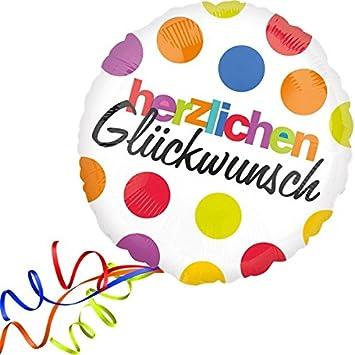 Top Folienballon HERZLICHEN GLÜCKWUNSCH XXL 45cm, mit Helium gefüllter BE12