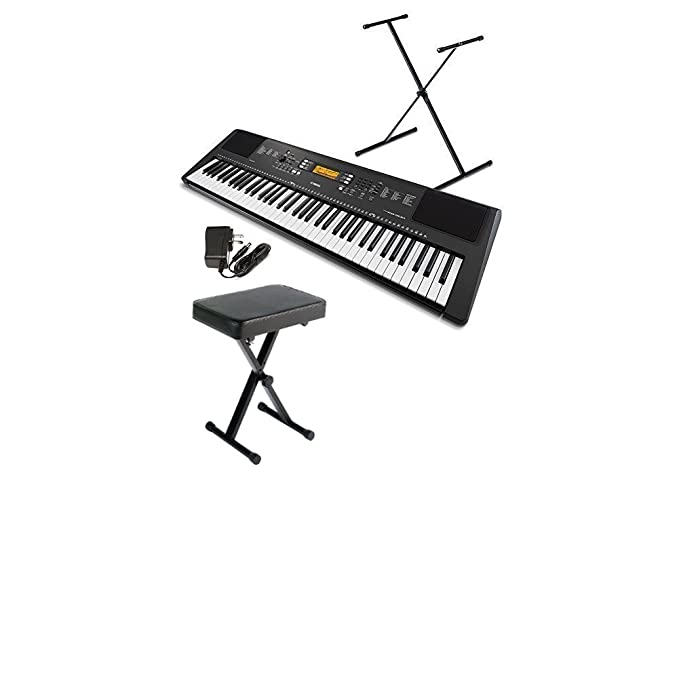 Sale alerts for  Yamaha PSREW300SA 76-Key Portable Keyboard Bundle with Stand, Bench and Power Supply - Covvet