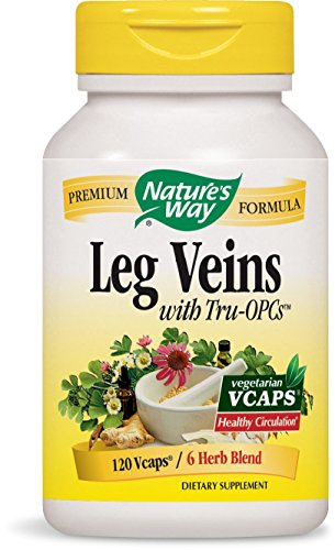 Spider Vein (Nature's Way Leg Veins Support Blend; with Tru-OPCS; Vegetarian; 120 Vegetarian Capsules)